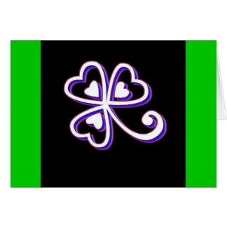 Irish Lucky clover Greeting Card