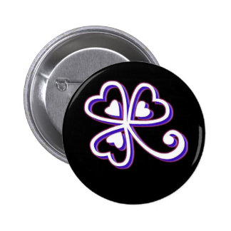 Irish Lucky clover Pinback Buttons