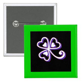 Irish Lucky clover Pins