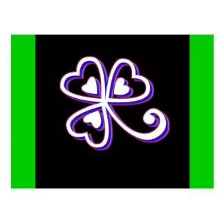 Irish Lucky clover Postcard