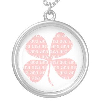 Irish Lucky Pink Shamrock Ava Custom Necklace