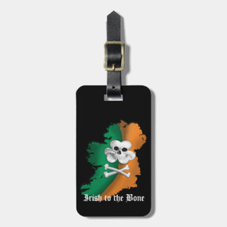 IRISH LUGGAGE TAG, ST PATRICKSS IRISH TO THE BONE LUGGAGE TAG