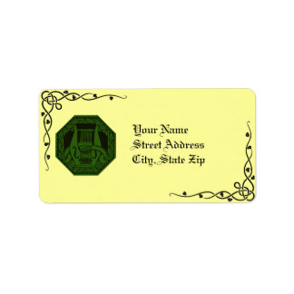 Irish Lyre Wreath & Vine Address Labels