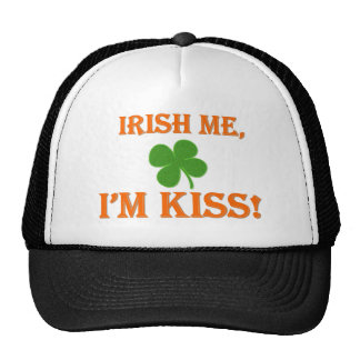 Irish Me I'm Kiss Mesh Hats