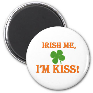 Irish Me I'm Kiss 6 Cm Round Magnet