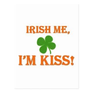 Irish Me I'm Kiss Post Cards