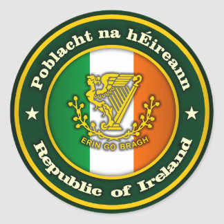 Irish Medallion 2 Classic Round Sticker