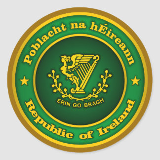 Irish Medallion Classic Round Sticker