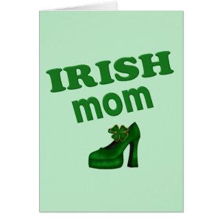 Irish Mom With High Heel Greeting Card