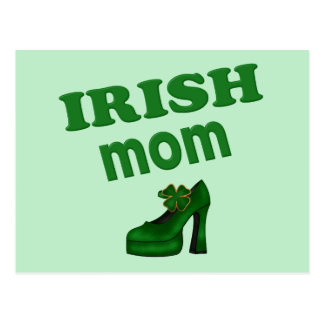 Irish Mom With High Heel Postcard