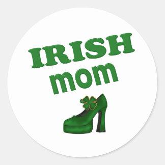 Irish Mom With High Heel Round Sticker