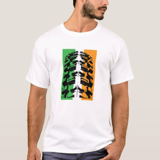 Irish Mountain Bike Tyre Tire T-Shirt