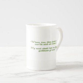 "Irish Mug with ""Goddess Green"" Quote"