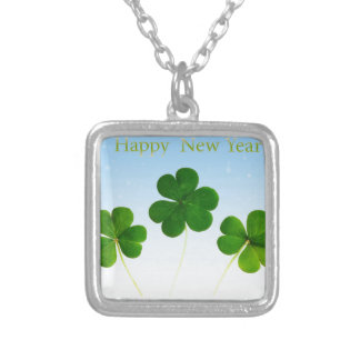 Irish New-Years-Day Silver Plated Necklace
