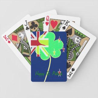 Irish New Zealand Flag Shamrock Clover St. Patrick Bicycle Playing Cards