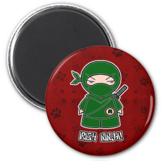 Irish Ninja! In Red Magnet