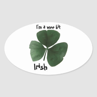 Irish oval sticker
