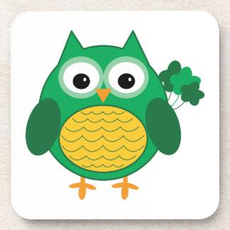 Irish Owl Beverage Coaster