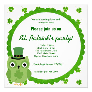 Irish Owl Personalized Announcement