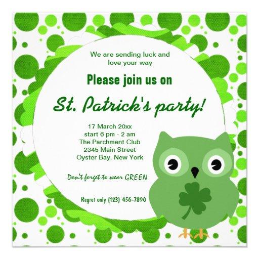 Irish Owl Invitation