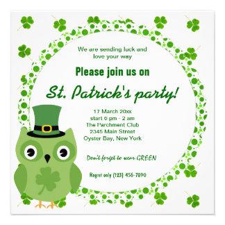 Irish Owl Personalized Announcement
