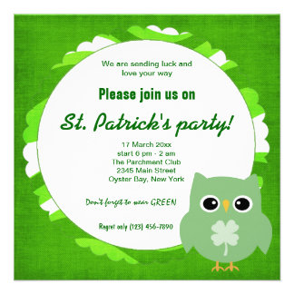 Irish Owl Invite