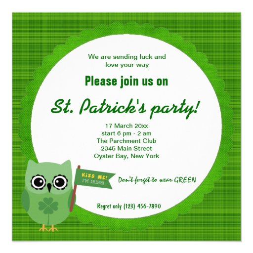 Irish Owl Invite