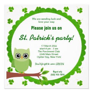 Irish Owl Personalized Invites