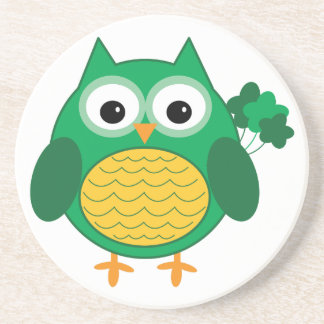 Irish Owl Sandstone Coaster