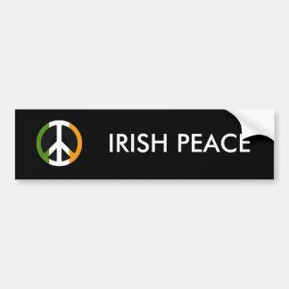 IRISH PEACE CAR BUMPER STICKER