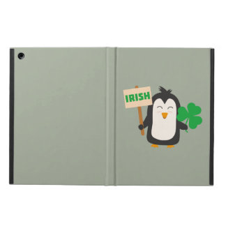 Irish Penguin with shamrock Zjib4 Cover For iPad Air