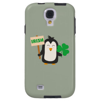 Irish Penguin with shamrock Zjib4 Galaxy S4 Case