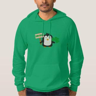 Irish Penguin with shamrock Zjib4 Hoodie