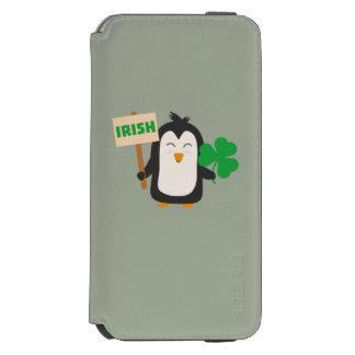 Irish Penguin with shamrock Zjib4 Incipio Watson™ iPhone 6 Wallet Case