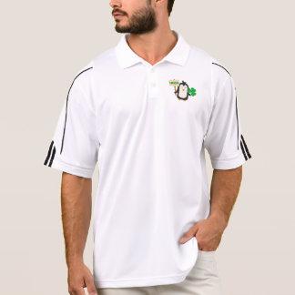 Irish Penguin with shamrock Zjib4 Polo Shirt