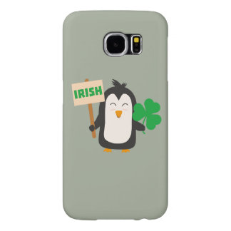 Irish Penguin with shamrock Zjib4 Samsung Galaxy S6 Cases