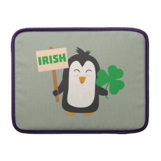 Irish Penguin with shamrock Zjib4 Sleeve For MacBook Air