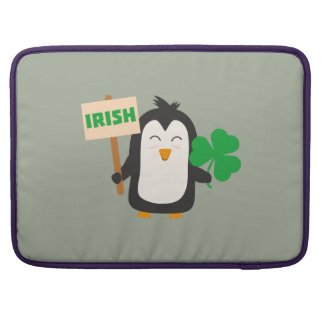Irish Penguin with shamrock Zjib4 Sleeves For MacBook Pro