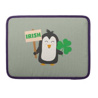 Irish Penguin with shamrock Zjib4 Sleeves For MacBooks