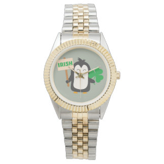 Irish Penguin with shamrock Zjib4 Watches