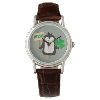 Irish Penguin with shamrock Zjib4 Watches