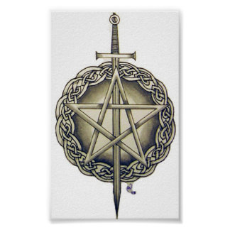 Irish Pentacle Poster
