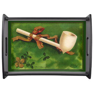 Irish Pipe St. Patrick's Day Serving Tray