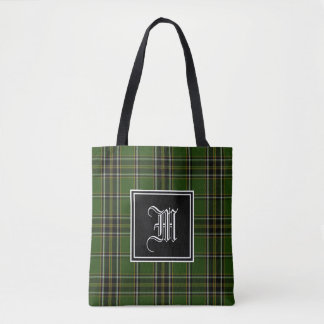 Irish Plaid Monogram Tote Bag