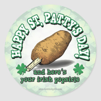 Irish Popsicle Round Stickers