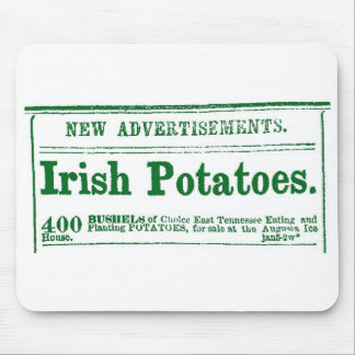 Irish Potato Newspaper Advertisement Civil War era Mouse Pad