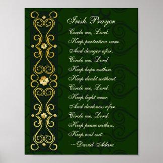 Irish Prayer, Circle me Lord, Poster