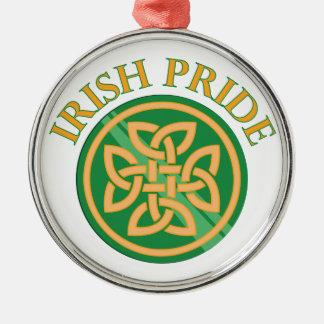 Irish Pride Silver-Colored Round Decoration