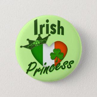Irish Princess Heritage Heart 6 Cm Round Badge