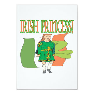 "Irish Princess 5"" X 7"" Invitation Card"